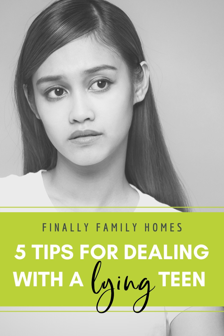 Five tips for dealing with a lying teen