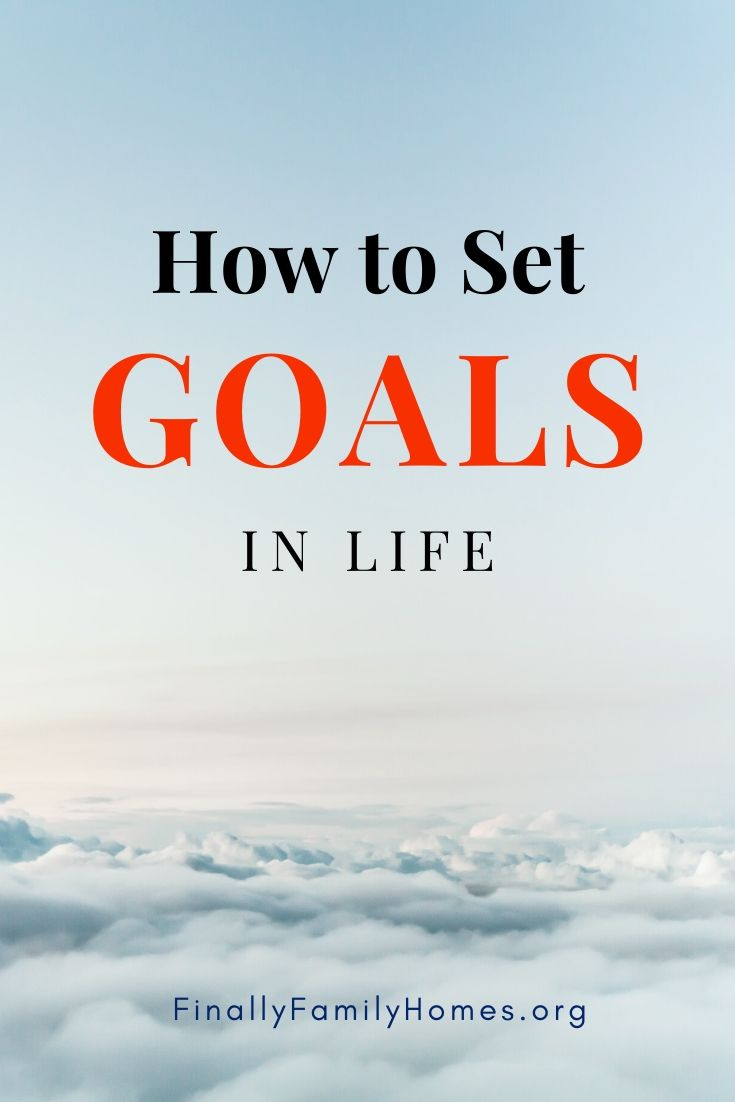 How to Set Goals in Life - from Finally Family Homes (pin)