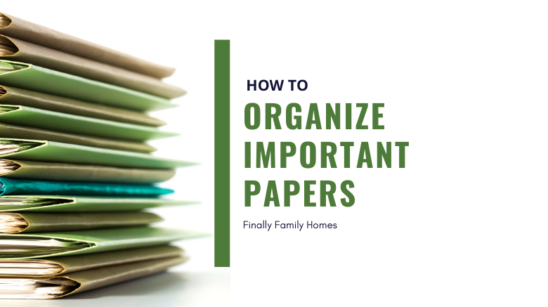 how to organize papers