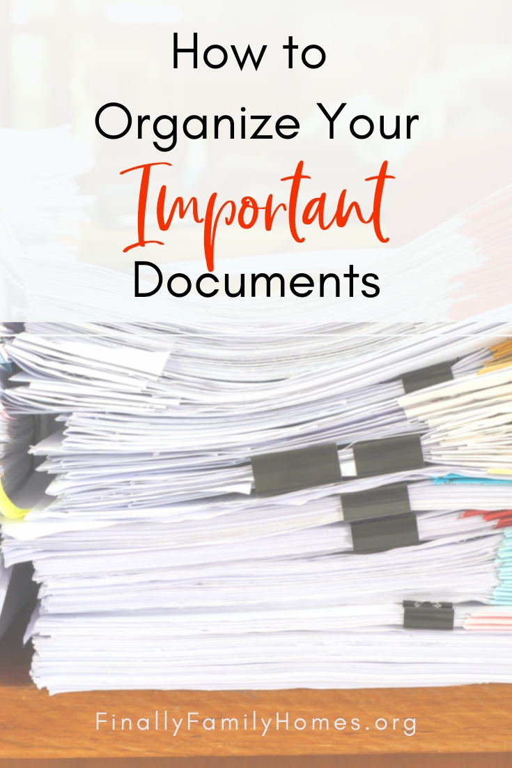 image of how to organize your important papers