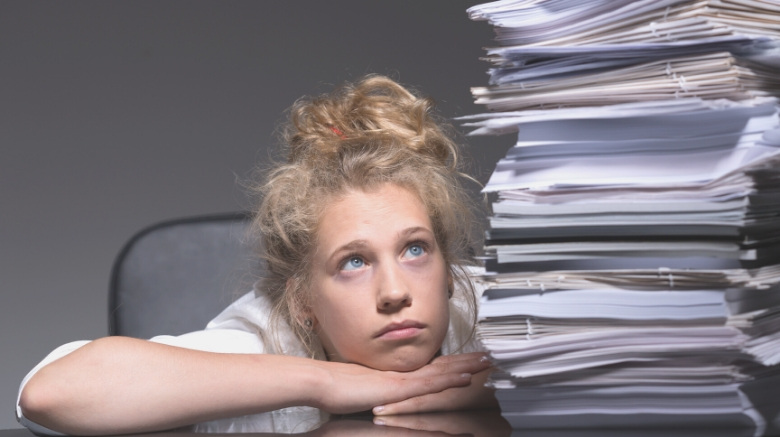 image of how to store important documents - overwhelmed teen