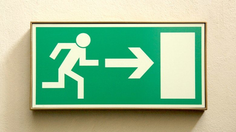 image of exit sign - prepare for unexpected