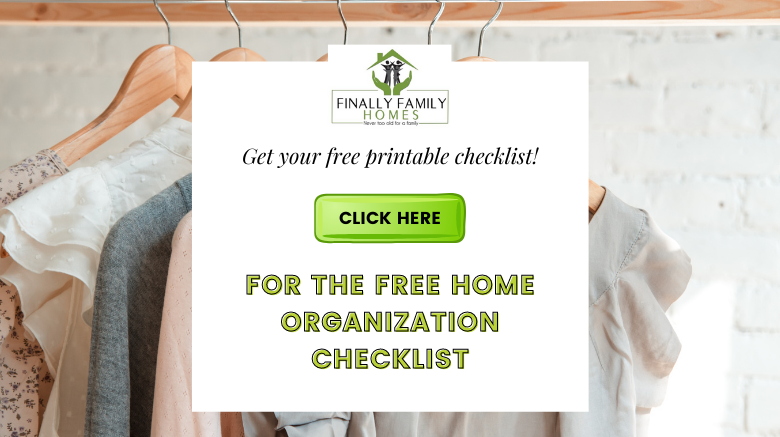 how to get organized at home checklist