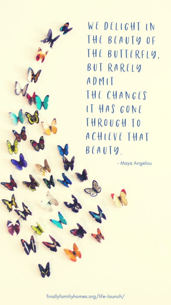 image of butterfly beauty quote wallpaper