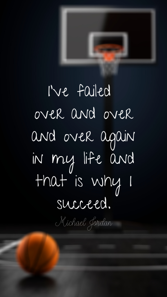 image of motivational quote from Michael Jordan