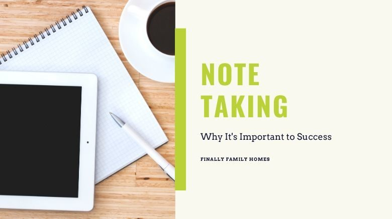 image of note taking and coffee