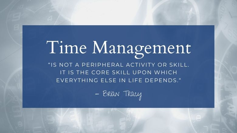 image of how to use time wisely quote from brian tracy