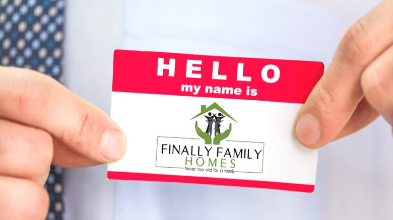 image of name tag - about Finally Family Homes