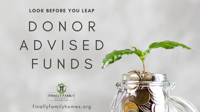 image of plant in jar donor advised funds