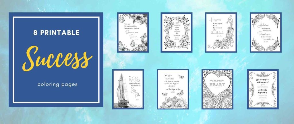 success coloring book on Etsy mockup