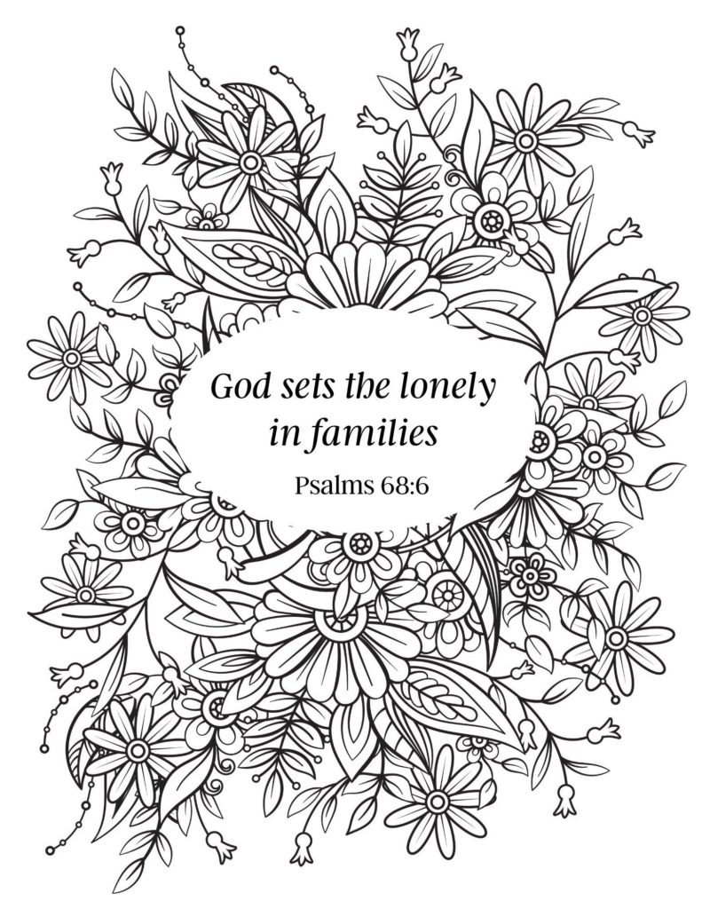 image of insiprational bible verse coloring page