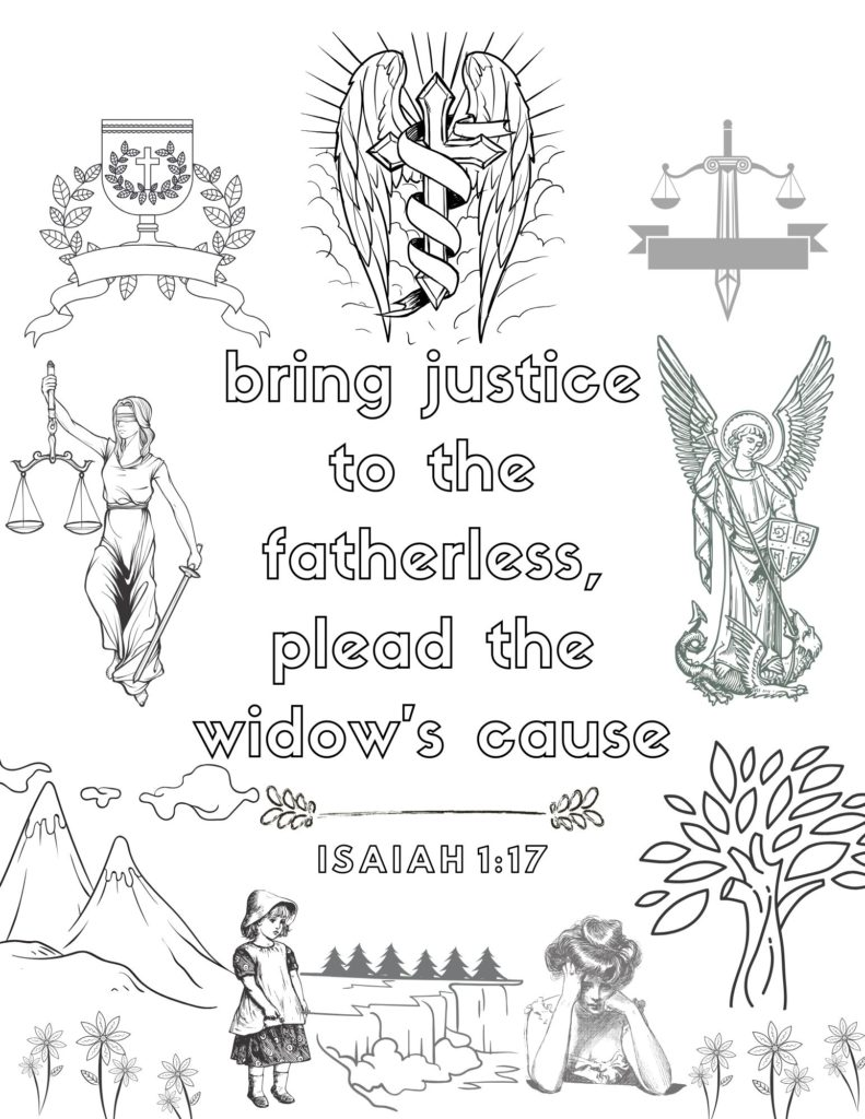 image of Isaiah bible verse coloring page