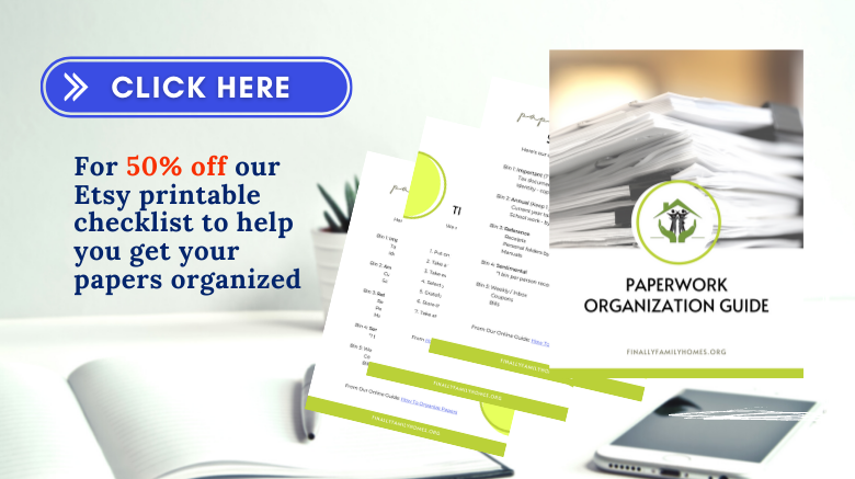 image of get our paperwork organization guide on Etsy