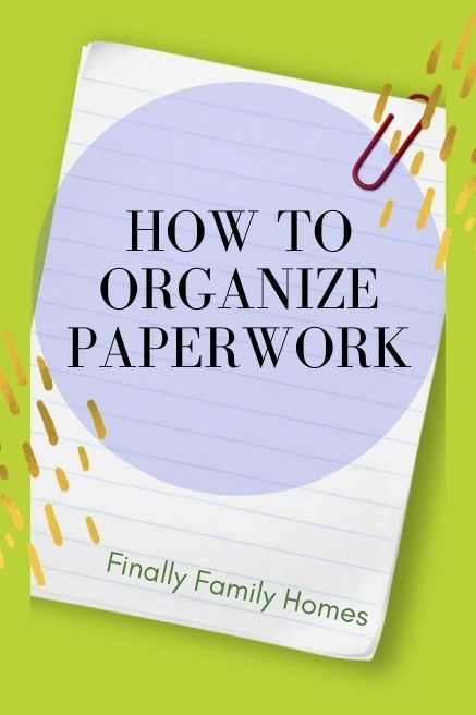 how to organize papers at home