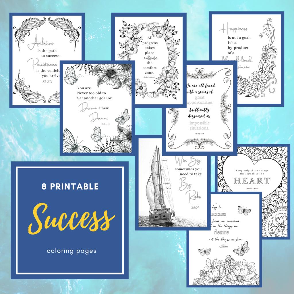 success coloring book