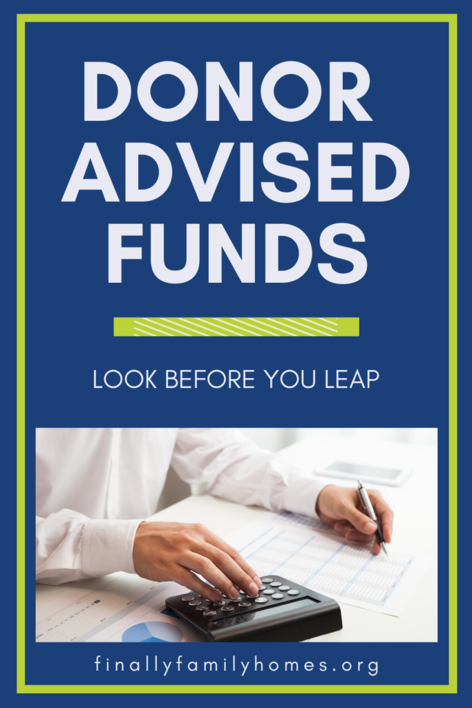 donor-advised funds disadvantages