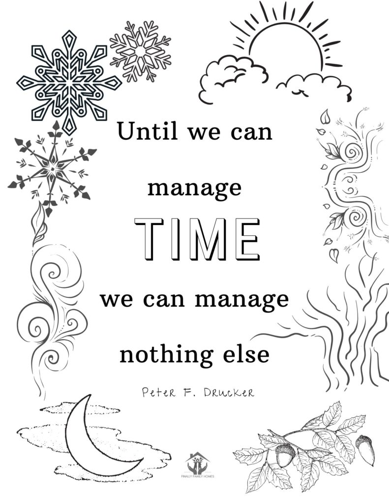 free coloring page - time quote