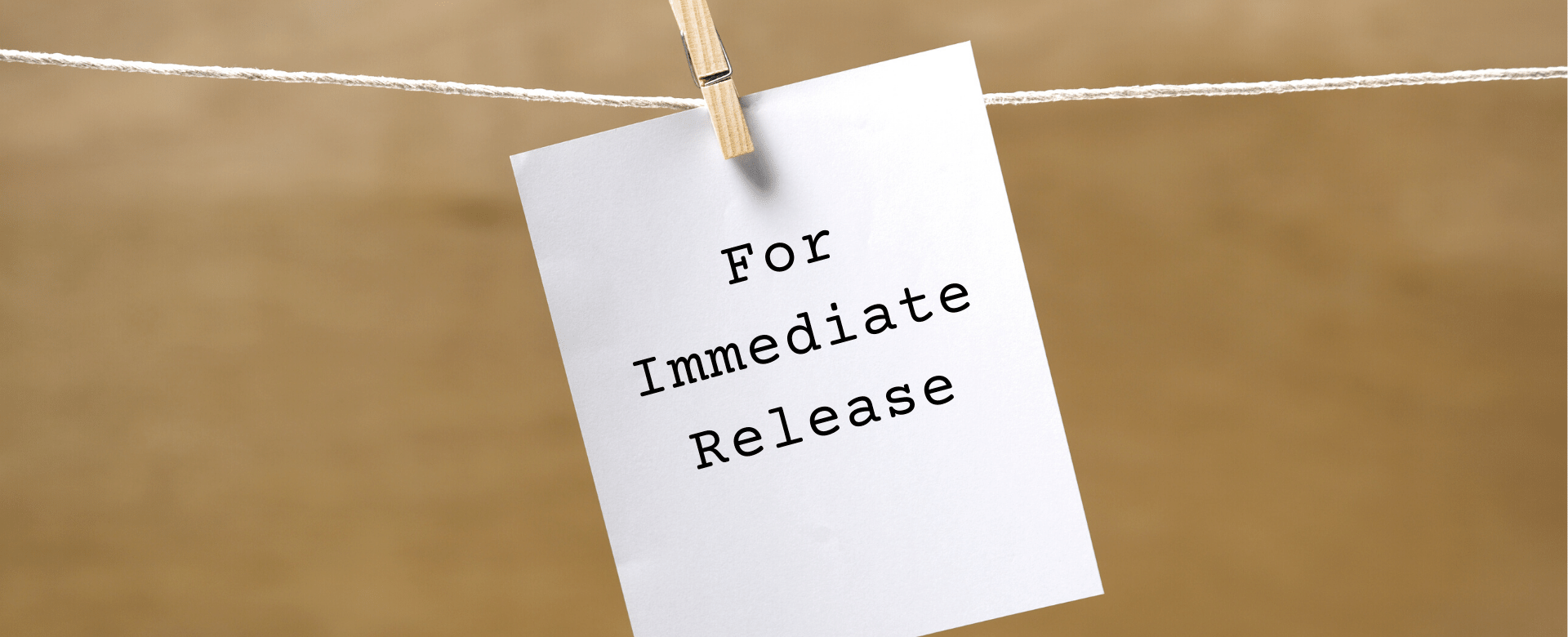 image of text on a note for immediate release