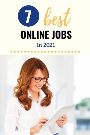 7 best online jobs in 2021 - woman holding  a tablet
