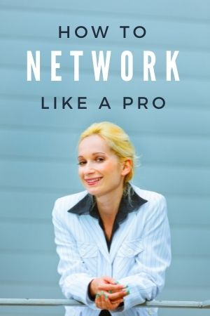 smiling business woman who knows how to network